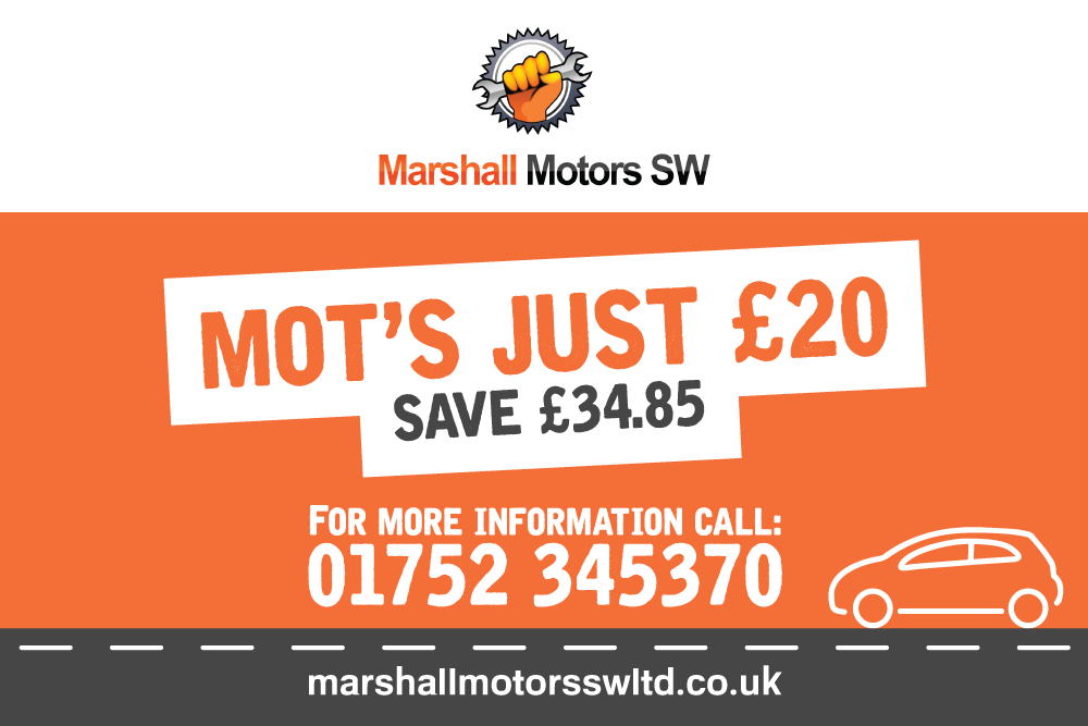 Save £34.85 on MOT's At Marshal Motors